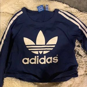 adidas cropped long sleeve